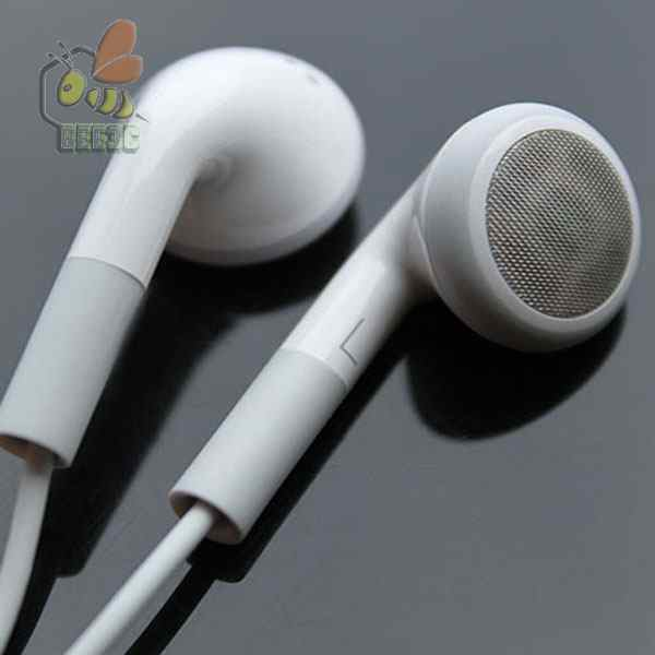 1000pcs lot good quality cheap White Earphone with Mic Handsfree for iPod iphone6 iPhone 4 4G
