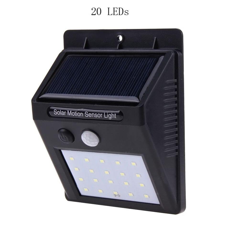 1 pz Lampada Solare Luce del Sensore di Movimento 25/20/30 LED Waterproof Security Lampada Light Energy Saving Light lampada Esterna Giardino Carrabile