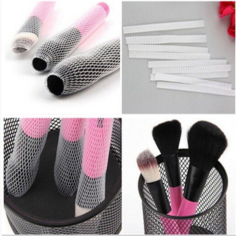 30pcs Makeup Cosmetic Beauty Brush Protector Pen Guards Make up Brushes Sheath Mesh Netting Protector Cover Makeup Tools