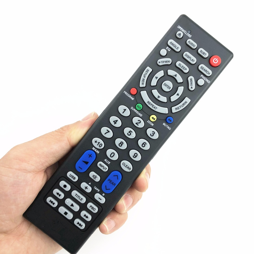 home theather remote control suitable for jbl jvc kenwood rmt-c303a-c8 rmt-cd5a rm-sr100 rm-sd50 rm-sc50 rm-ss900 rm-scl10 chunghop rm l7 multifunctional learning remote control silver