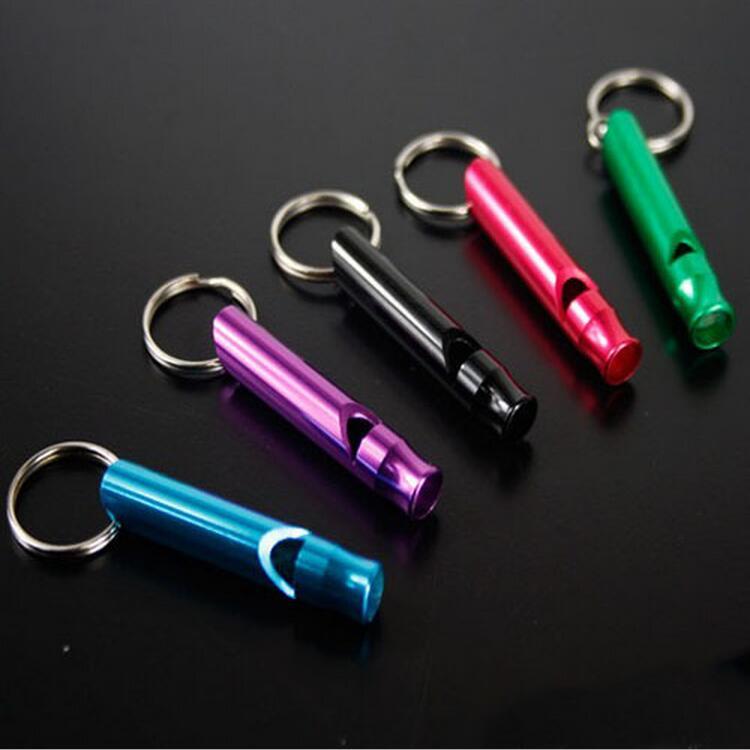Small Aluminum whistle lifesaving whistle whistle mini outdoor survival kit Sports whistle