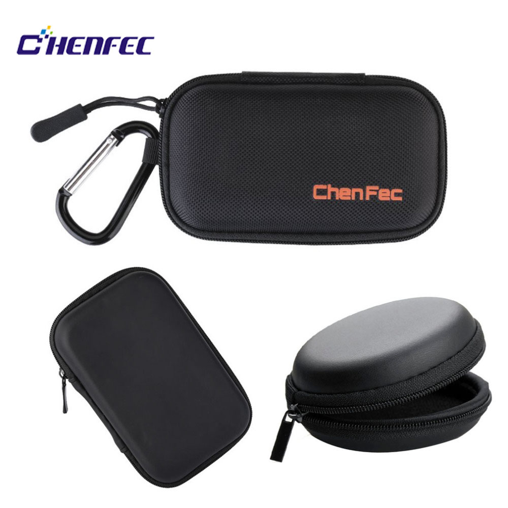 MP3 Player Case Box With 3 Modes Case Support Most Of Suitable Size Players And Headphones, Easy To Use And Carry Black