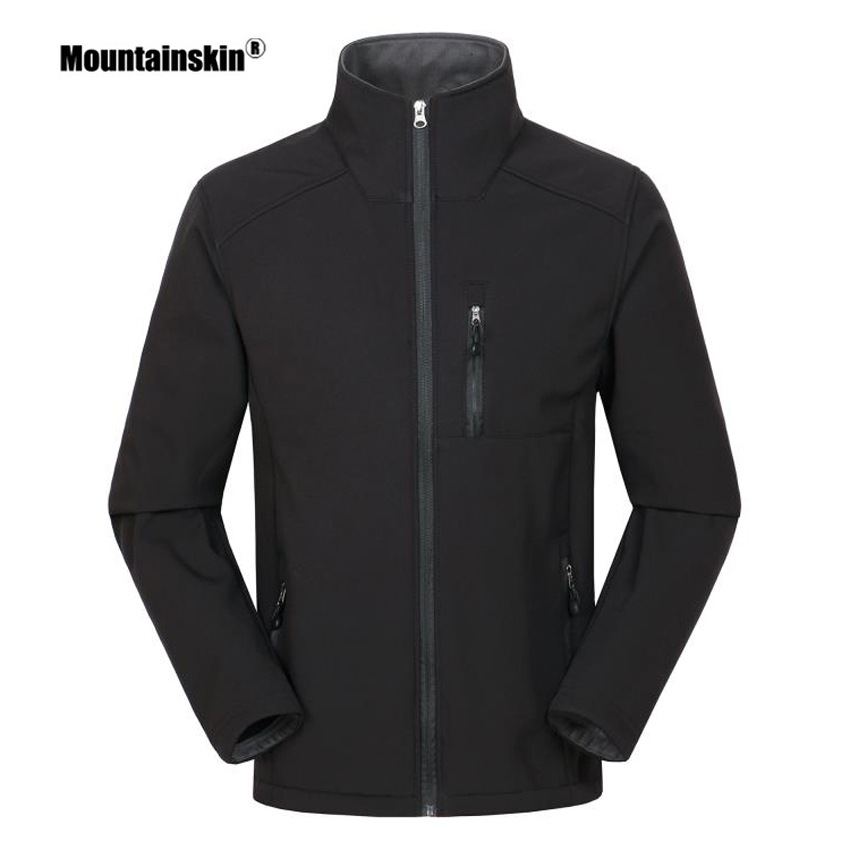 Mountainskin Men's Thermal Softshell Thin Fleece Jackets Outdoor Sports Coat Hiking Climbing Trekking  Windbreakers Men VA291