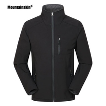 Mountainskin Men's Thermal Softshell Thin Fleece Jackets Outdoor Sports Coat Hik