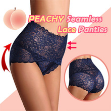 2019 Fashion Droppshiping Women Seamless Lace Panties Breathable High Waist Butt Lift Briefs Underwear BFJ55