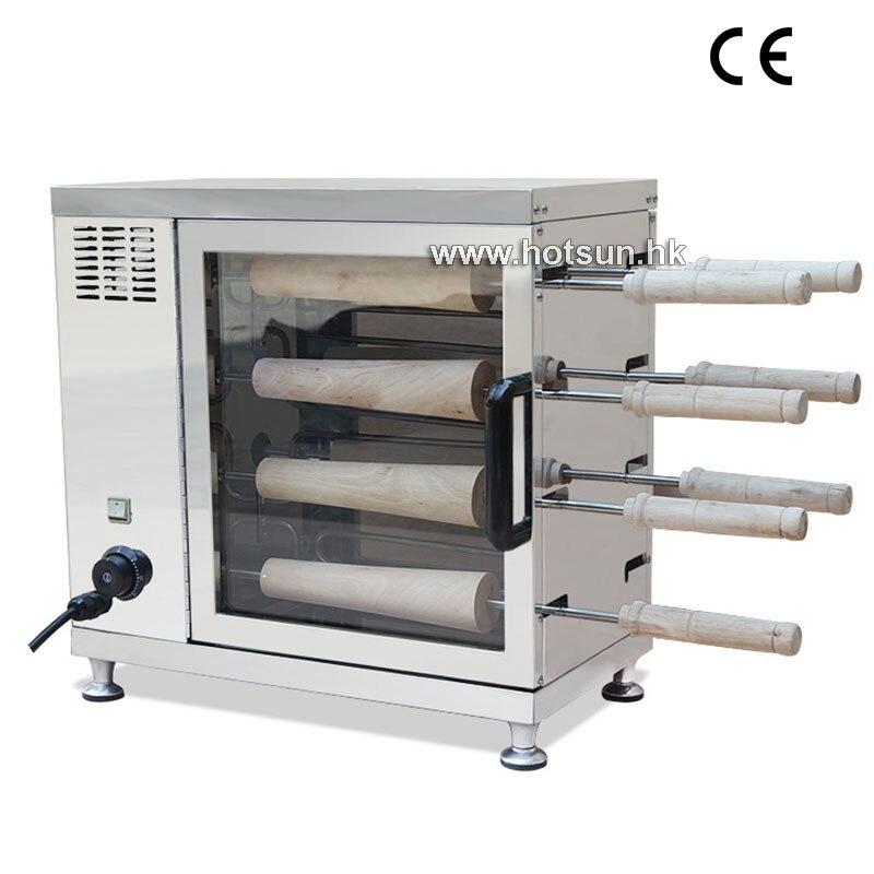 Free Shipping Commercial 110V 22V Electric Chimney Cake Oven Kurtos Kalacs Maker Machine three groups of kebab ovens commercial electric oven machine