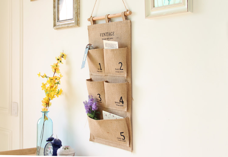 Door Pocket Storage Pantry Door Organizer Wood Over The Door