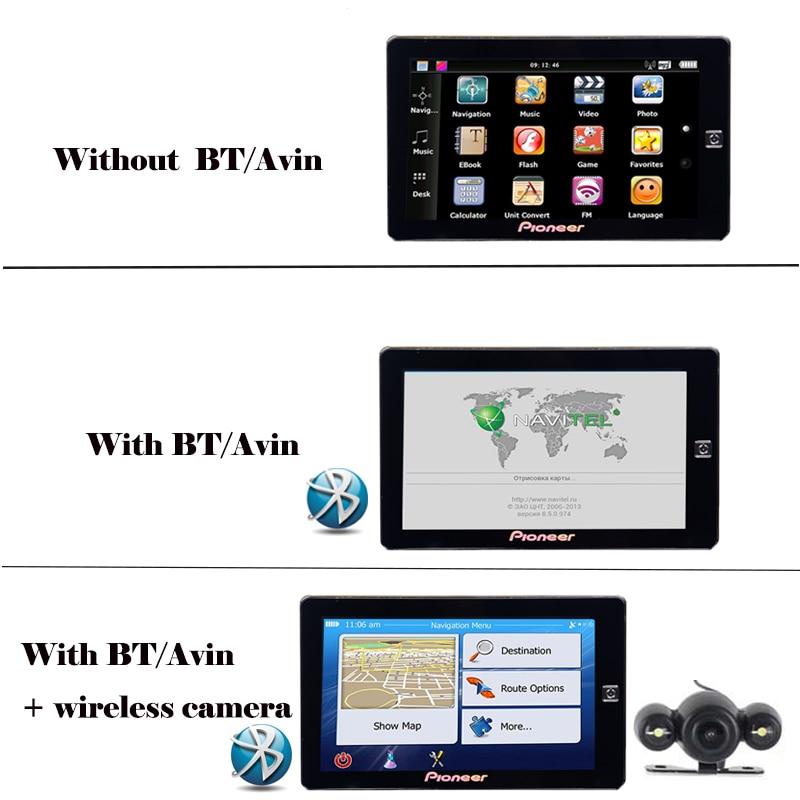 Free shipping 7 inch TFT LCD HD truck GPS navigation MTK DDR3 256M ROM 8G  bluetooth avin FM MSB2531 800*480 car gps navigator