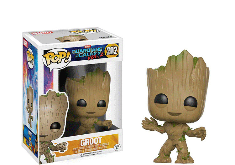 10cm Groot Funko POP Guardians of the Galaxy 2 #202 PVC Action Figure Collection Model Toys Gifts new funko pop guardians of the galaxy tree people groot