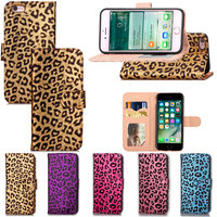 5 5 Inch Sexy Women Leopard Print Wallet For IPhone 6 6s Plus Case Covers Flip