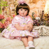 60cm vinyl silicone reborn baby dolls high end princess girl toddler newborn baby alive dolls toys for bebe child xmas gift