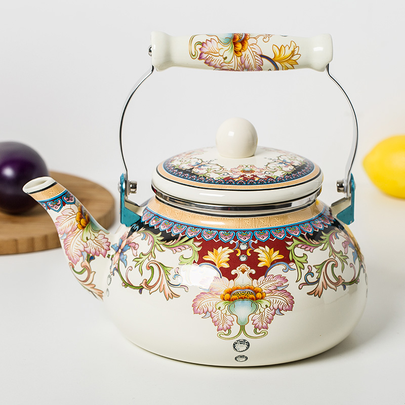 L special porcelain enamel kettle Water kettle Water bottle traditional Chinese Medicine