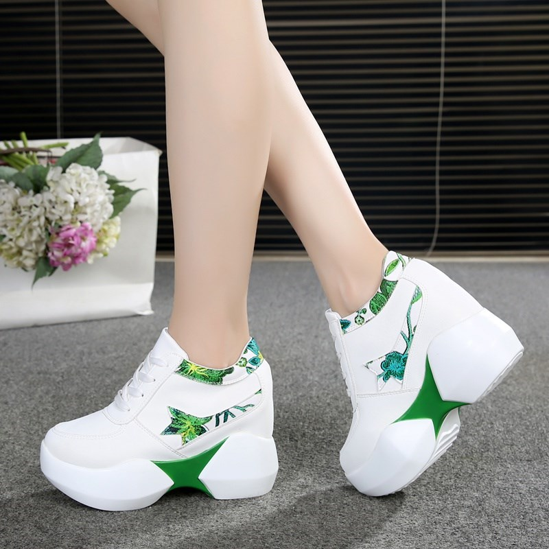 Women Sneakers 2018 Autumn Fashion Breathable High Heels Ladies Casual Shoes Vulcanize Women Platform Shoes Female Chaussure Women Sneakers 2018 Autumn Fashion Breathable High Heels Ladies Casual Shoes Vulcanize Women Platform Shoes Female Chaussure
