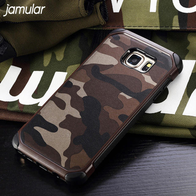 meet c2cba 514b0 US $4.12 31% OFF|JAMULAR Military Shockproof Case For Samsung Galaxy S7 S6  Edge S8 S9 Plus Camouflage Cover For Samsung A3 A5 A7 J5 J7 Note 5 4-in ...