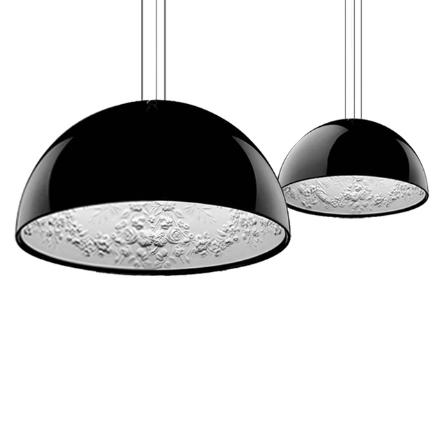 Nordic Resin Sky Garden Led Pendant Lights Post Modern Lamp Black White Hanging Light For