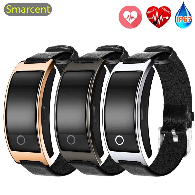 Smarcent CK11S Herz Rate Smart Uhr Mit Blut Druck Schrittzähler Fitness Tracker Armband Smartwatch für iphone Android-handy