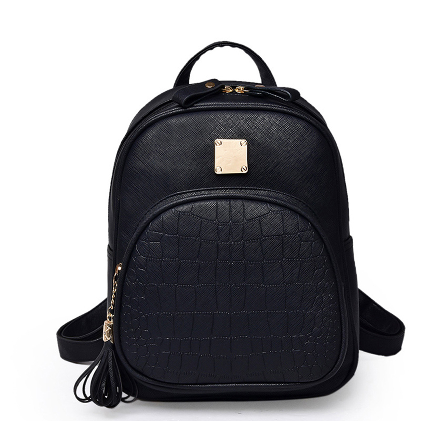 marca alligator padrão pu couro Tipo : Stone Backpack