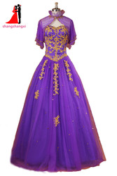 Sweetheart purple ball gown quinceanera dresses 2017 tulle with gold appliques sweet 16 dresses debutante long.jpg 250x250