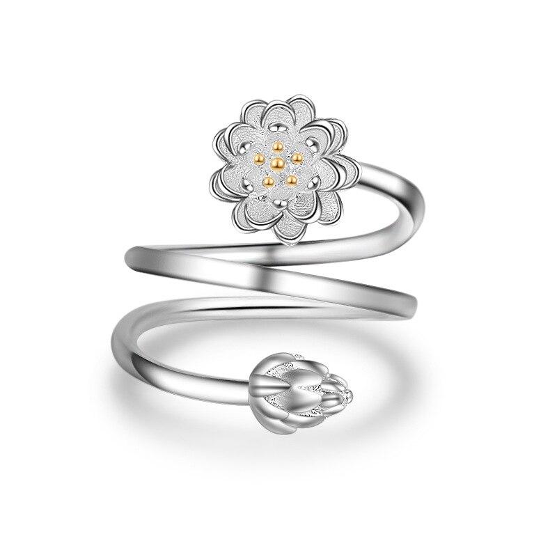 JEXXI Trendy Fashion Girls/Children Rings Pretty Silver Finger Ring Wholesale Cute Party Jewelry Plum Flower Design