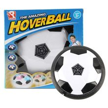 Funny LED Light Flashing Ball Toy Air Power Soccer Ball Disc Indoor Football Toy Multi-surface Hovering Gliding Toy(China)