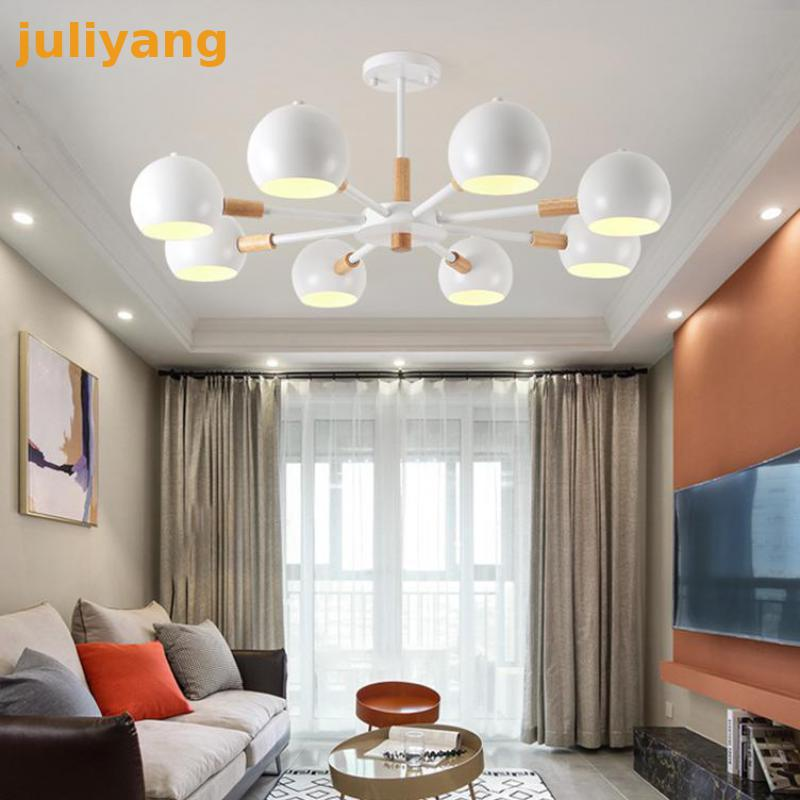 3 6 8head  Nordic Style Makaron rion Chandeliers led light fixture for bedroom dining room home decoration hanging lamp3 6 8head  Nordic Style Makaron rion Chandeliers led light fixture for bedroom dining room home decoration hanging lamp