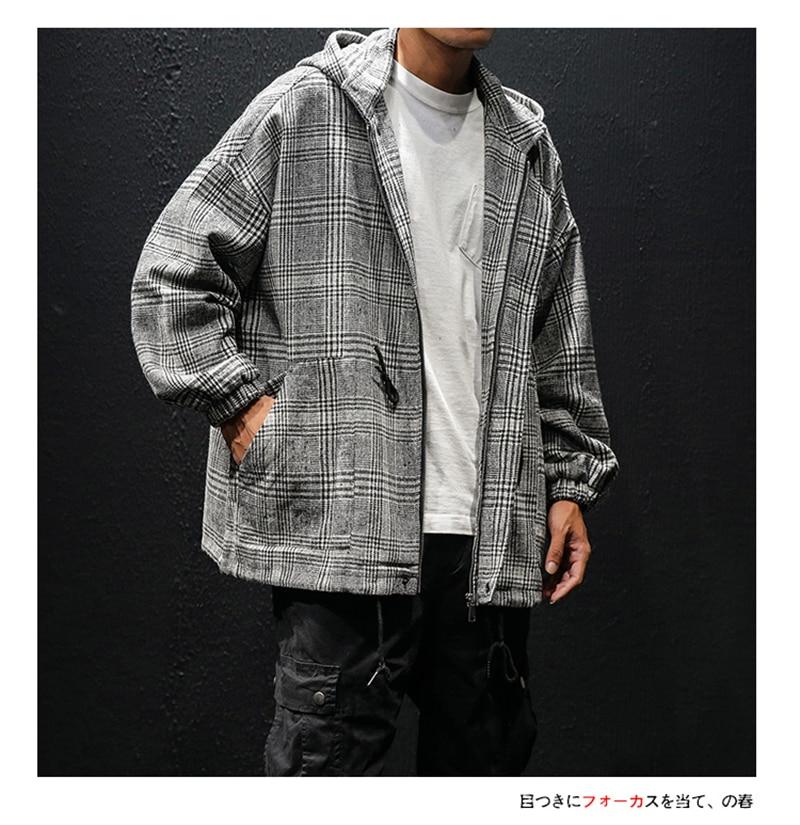 Korean Trench Coat Men Overcoat Hood Slim Fit (4)