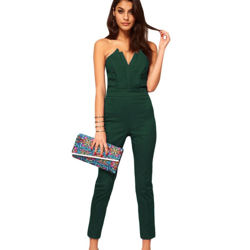 Online Buy Wholesale womens green jumpsuit from China womens green ...
