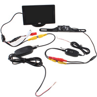 Backup Reverse Rearview Camera Wireless Car Kit Display Parking Monitor Mini Night Vision System