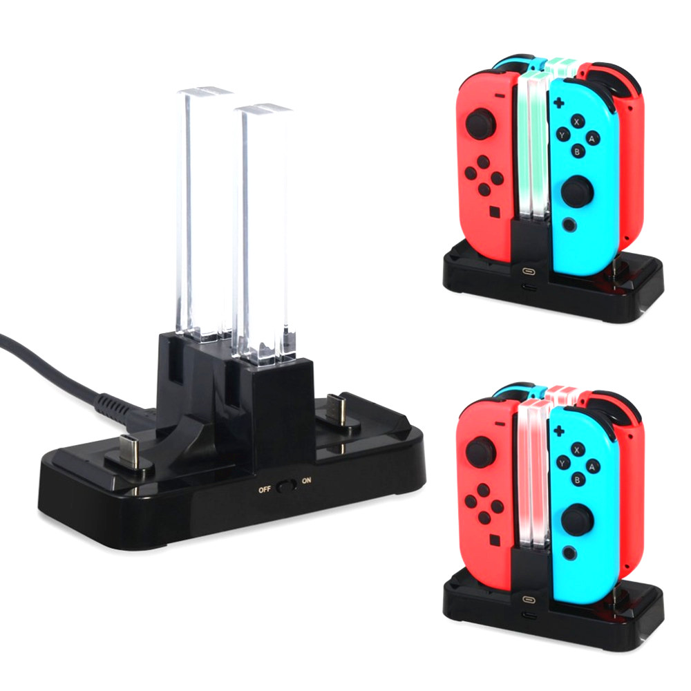 Portable Charging Dock Station Gamepad Charger Dock Desk Tablet JoyStick Charger For Nintendo Switch  NS Joy-Con&Pro Controller 2