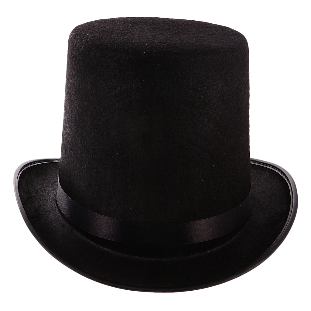 Magician Hat Top-Hat Costume-Gentlemen Headwear-Ringmaster Black Formal Theatrical Plays