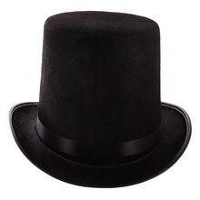 Черный топ шляпа мага костюм-джентльмен смокинг официальный головной убор-Ringmaster шляпа для театральных пьес музыкальные