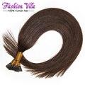 I ponta extensões de cabelo fusão a frio extensões de cabelo cápsulas de queratina extensões de cabelo humano #2 100g pré cabelo trançado extensões
