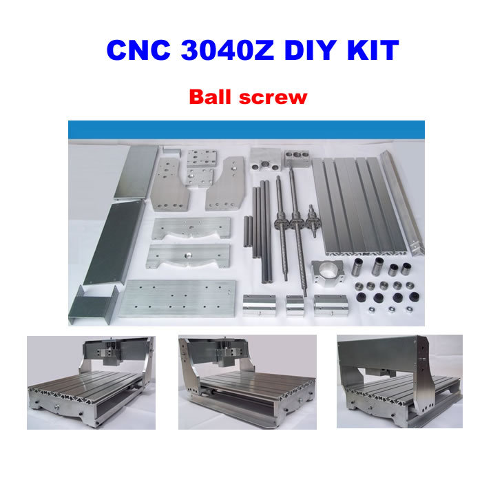 Free Shipping! CNC 3040Z DIY CNC Bed Frame Kit with ball screw driving units, optical axis and bearings