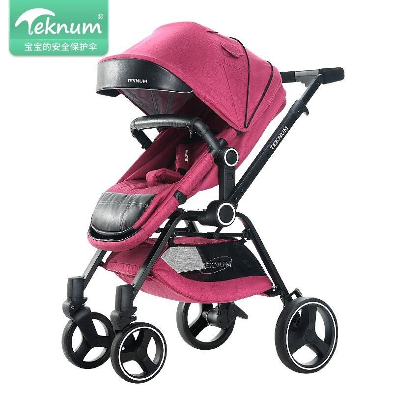 Teknum тележка может сидеть, лежать, раза, свет, для детей от 0 до 3 лет, Высокая Пейзаж новорожденных толкает детские коляски.