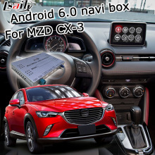 Android 6.0 cuadro de navegación GPS para Mazda CX-3 con espejo enlace youtube google play video interface box iGO waze yandex navi