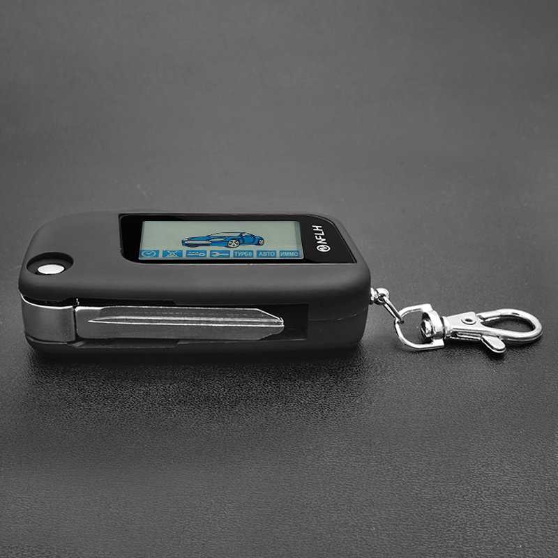Starline A93 Keychain Remote Controller With Key Uncut Blade For Two Way Car Alarm Starline A93 Folding Car Flip Remote
