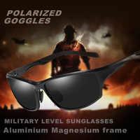 Gafas de sol militares polarizadas con montura de magnesio de aluminio para hombre gafas de sol de conducción UV400 gafas de sol de los hombres