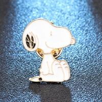 new-enamel-cute-animal-white-dog-style-brooch-denim-jacket-pin-buckle-shirt-badge-gift-lapel-pin
