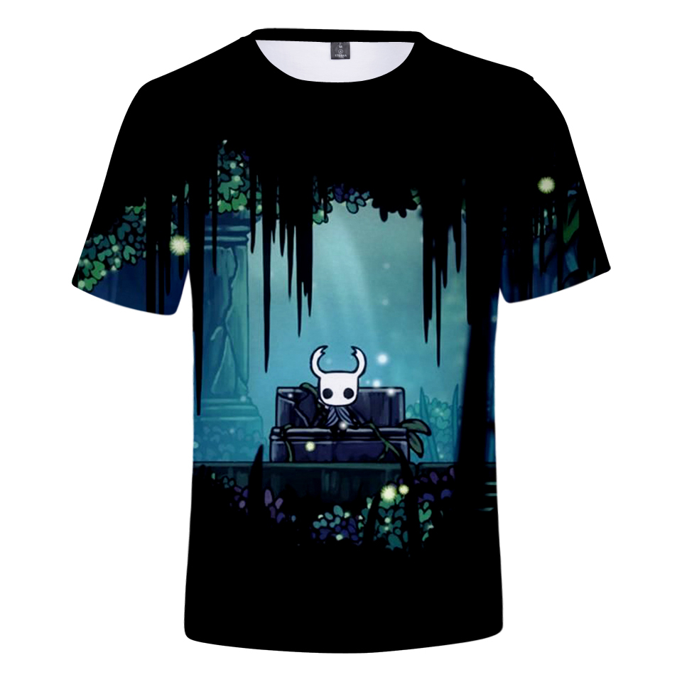 Aikooki New Hollow Knight 3D T Shirt Men/Women Summer Fashion Harajuku Anime T Shirt 3D Print Hollow Knight Men's Short Sleeve