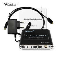 Wiistar 5.1 Audio Decoder SPDIF Coaxial to RCA DTS AC3 Digital to 5.1 Amplifier Analog Decoder for PS3 DVD player