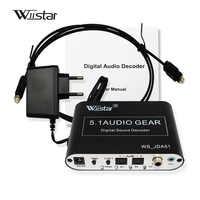 Decodificador de Audio Wiistar 5,1 SPDIF Coaxial a RCA DTS AC3 Digital a 5,1 amplificador decodificador analógico para reproductor de DVD PS3