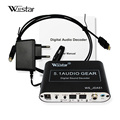 Wiistar 5.1 decodificador de áudio spdif coaxial para rca dts ac3 digital a 5.1 amplificador analógico decodificador para ps3 dvd player