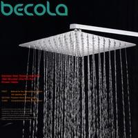 Becola высокого качества 8 дюймов 10 дюймов 12 дюймов 16 дюймов Ванная дождь насадка Нержавеющаясталь тропический душ и душа arm