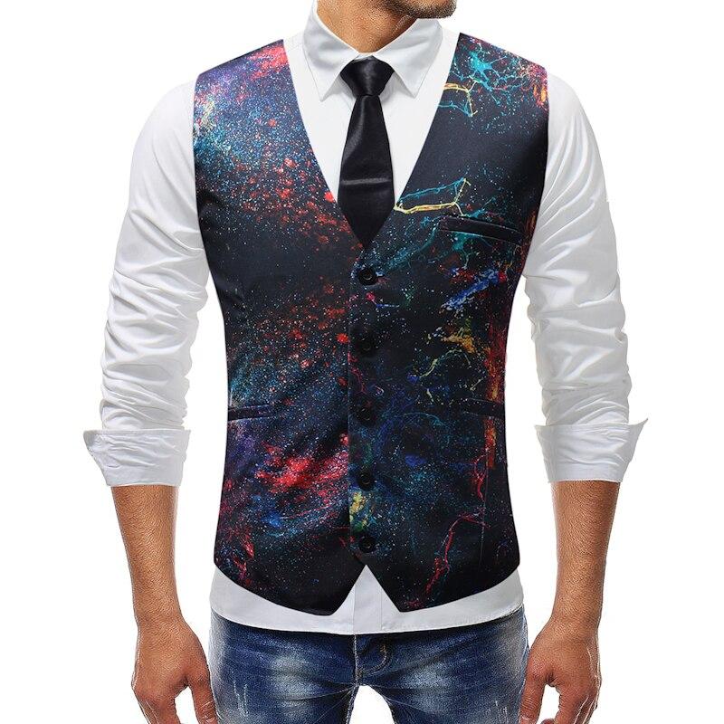 M-5XL 2019 New Style Casual Vest Men Waistcoat Gilet Homme Formal Wear Wedding Mens Vest Casual Suit Vest VA7