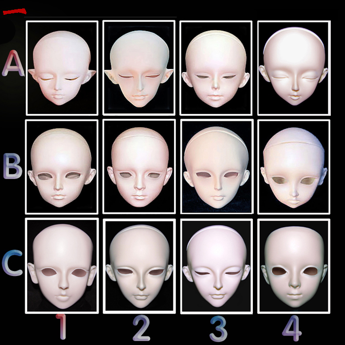 O for U Toy In Stock High Quality Resin BJD Head Top-grade BJD Doll Head sd/luts/doI For BJD DIY