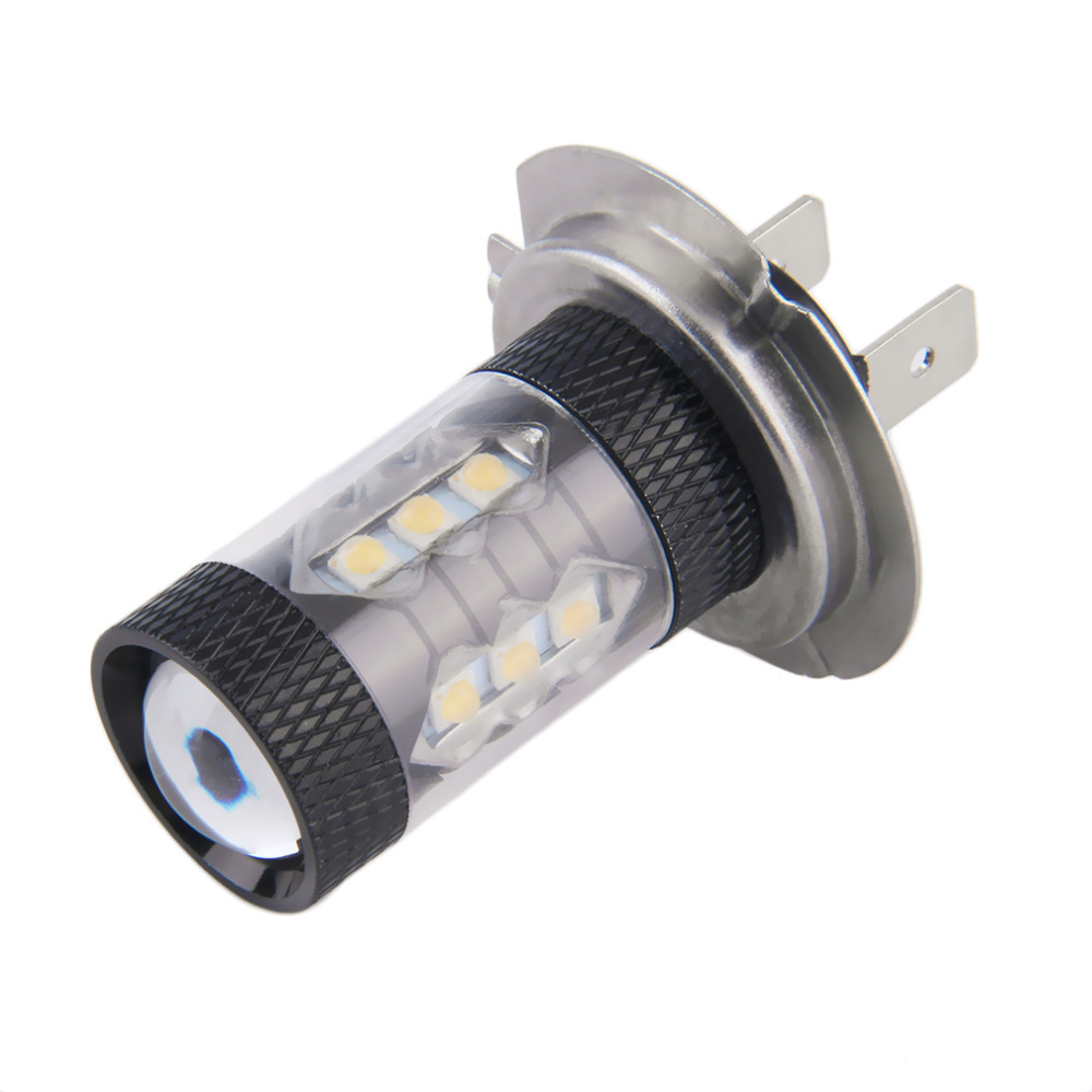 1x 80W H7 <font><b>LED</b></font> Bulb <font><b>16</b></font> SMD Car <font><b>Fog</b></font> Light DC 12V~24V White Headlight DRL <font><b>Fog</b></font> <font><b>Lamp</b></font> Light Sourcing 1920lm Hot Selling image