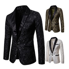 Mens Stylish Luxury Casual Vintage Paisley Blazer Urbane Smart Coat Suit Jacket