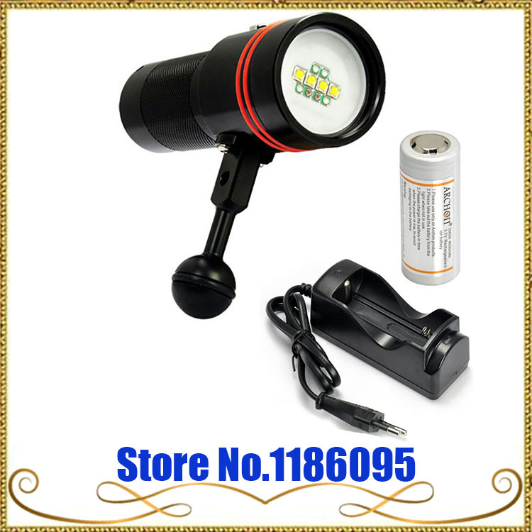 New Design! ARCHON D34V W40V Underwater Photographing Light Underwater Diving Fashlight Video Torch + battery + charger