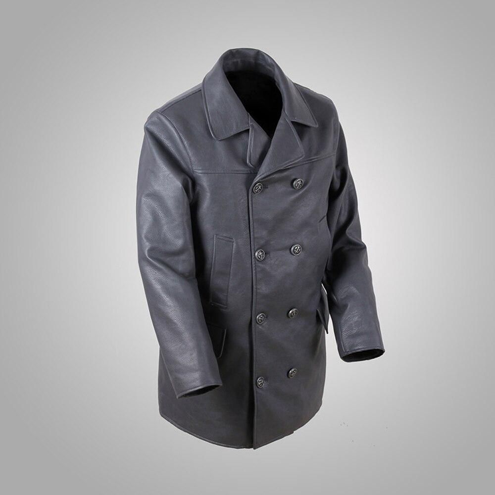 All Sizes German Submariner WW2 Vintage Men/'s Black Real Leather Jacket Coat