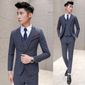 Los hombres traje de negocios trajes para hombre con pantalones últimas escudo pant designs tuxedo wedding trajes para hombre 3 unidades traje